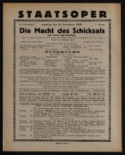 Theaterzettel des Hof-Operntheaters / Staatsoper (tit. fict.) 19381119 Seite: 1