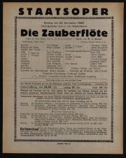 Theaterzettel des Hof-Operntheaters / Staatsoper (tit. fict.) 19381121 Seite: 1