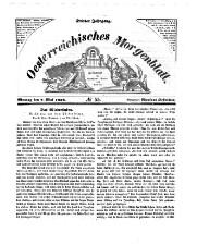Österreichisches Morgenblatt ; Zeitschrift für Vaterland, Natur und Leben