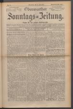 Oberwarther Sonntags-Zeitung 19230729 Seite: 1