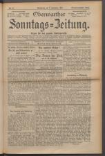 Oberwarther Sonntags-Zeitung 19230902 Seite: 1