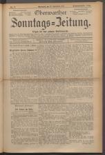 Oberwarther Sonntags-Zeitung 19230930 Seite: 1