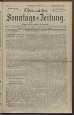 Oberwarther Sonntags-Zeitung 19240203 Seite: 1