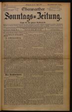Oberwarther Sonntags-Zeitung 19260425 Seite: 1