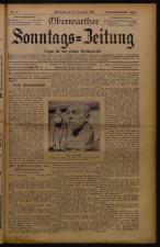 Oberwarther Sonntags-Zeitung 19261121 Seite: 1