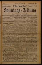 Oberwarther Sonntags-Zeitung 19261205 Seite: 1