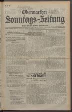 Oberwarther Sonntags-Zeitung 19291103 Seite: 1