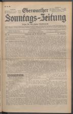 Oberwarther Sonntags-Zeitung 19311122 Seite: 1