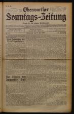 Oberwarther Sonntags-Zeitung 19320731 Seite: 1