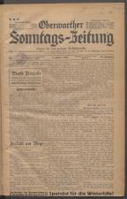 Oberwarther Sonntags-Zeitung 19370103 Seite: 1