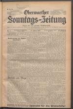 Oberwarther Sonntags-Zeitung 19370117 Seite: 1