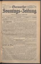 Oberwarther Sonntags-Zeitung 19370509 Seite: 1