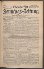 Oberwarther Sonntags-Zeitung 19370815 Seite: 1