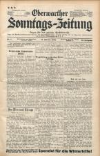 Oberwarther Sonntags-Zeitung 19380213 Seite: 1