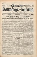 Oberwarther Sonntags-Zeitung 19380424 Seite: 1