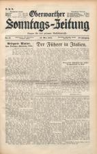 Oberwarther Sonntags-Zeitung 19380515 Seite: 1