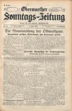 Oberwarther Sonntags-Zeitung 19380605 Seite: 1