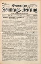 Oberwarther Sonntags-Zeitung 19380710 Seite: 1