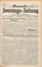 Oberwarther Sonntags-Zeitung 19380724 Seite: 1