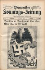 Oberwarther Sonntags-Zeitung 19381002 Seite: 1