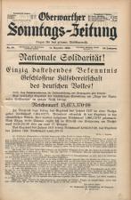 Oberwarther Sonntags-Zeitung 19381211 Seite: 1