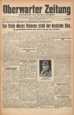 Oberwarther Sonntags-Zeitung 19450228 Seite: 1