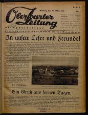 Oberwarther Sonntags-Zeitung 19490320 Seite: 1