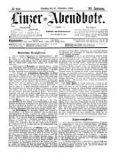 Linzer Abendbote: Zeitschrift für Stadt und Land