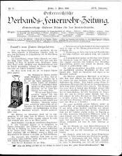 Österreichische Verbands-Feuerwehr-Zeitung 18930305 Seite: 1