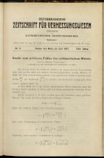 Österreichische Zeitschrift für Vermessungswesen