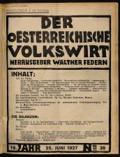 Der österreichische Volkswirt