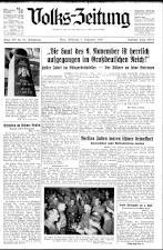 (Österreichische) Volks-Zeitung 19381109 Seite: 1