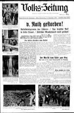 (Österreichische) Volks-Zeitung 19381110 Seite: 1