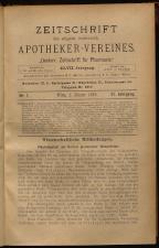 Österreichische Zeitschrift für Pharmacie 18930101 Seite: 1