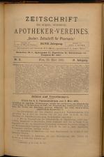 Österreichische Zeitschrift für Pharmacie 18930320 Seite: 1