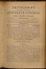 Österreichische Zeitschrift für Pharmacie 18930720 Seite: 1