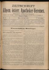 Österreichische Zeitschrift für Pharmacie