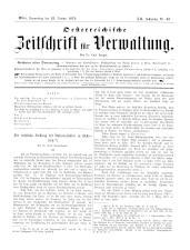 Österreichische Zeitschrift für Verwaltung 18791023 Seite: 1