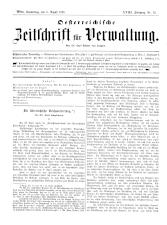 Österreichische Zeitschrift für Verwaltung