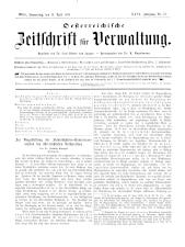 Österreichische Zeitschrift für Verwaltung 18930413 Seite: 1