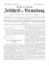 Österreichische Zeitschrift für Verwaltung 18930622 Seite: 1