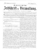 Österreichische Zeitschrift für Verwaltung 18930720 Seite: 1