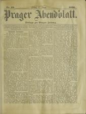 Prager Abendblatt 18960131 Seite: 1