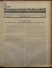 Pharmaceutische Post 19381203 Seite: 1