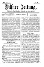 Pilsener Zeitung: Zeitung für Politik, allgemeine Interessen und Unterhaltung