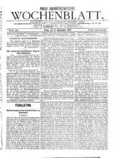 Prager land- und volkswirthschaftliches Wochenblatt