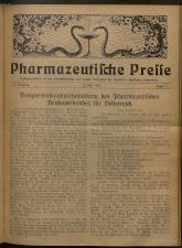 Pharmaceutische Presse 19270615 Seite: 1