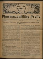 Pharmaceutische Presse 19270715 Seite: 1
