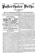 Pustertaler Bote: politisches Lokal- und Provinzblatt