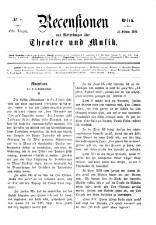 Recensionen und Mittheilungen über Theater und Musik 18650218 Seite: 1